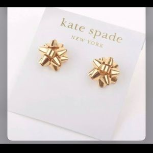 Kate spade gift bow earrings new